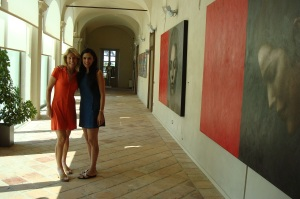 Gaja bought and renovated the Castello di Barbaresco. It i decorated with art commisioned from countries where the Gaja wines are most popular.