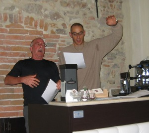 Lorenzo and Richard singing at the farmhouse. Man, the Italians LOVE karaoke!